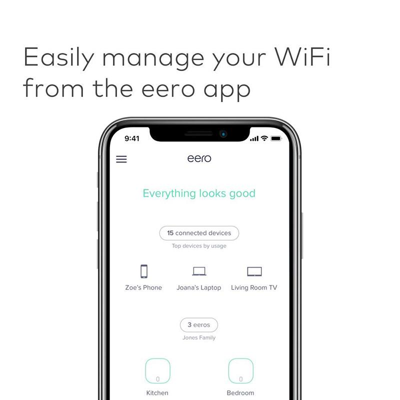 Amazon eero mesh WiFi - 2 pack 无线路由器eero网状WiFi路由器